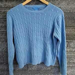 J. McLaughlin blue long sleeve knit sweater large